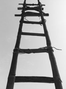 black-and-white-construction-ladder-54335